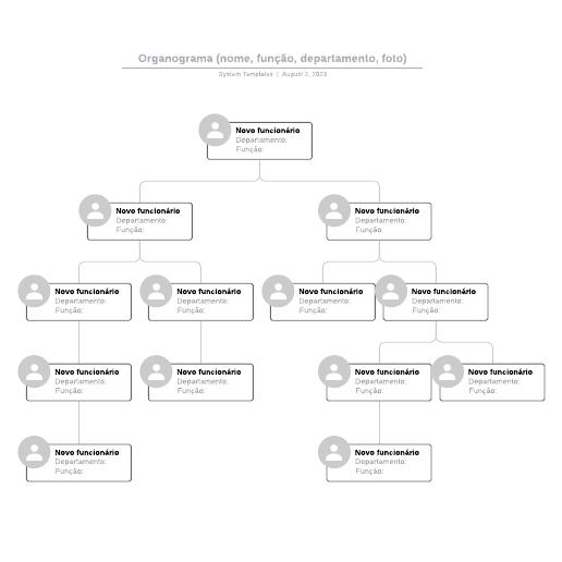 Modelo de organograma para preencher