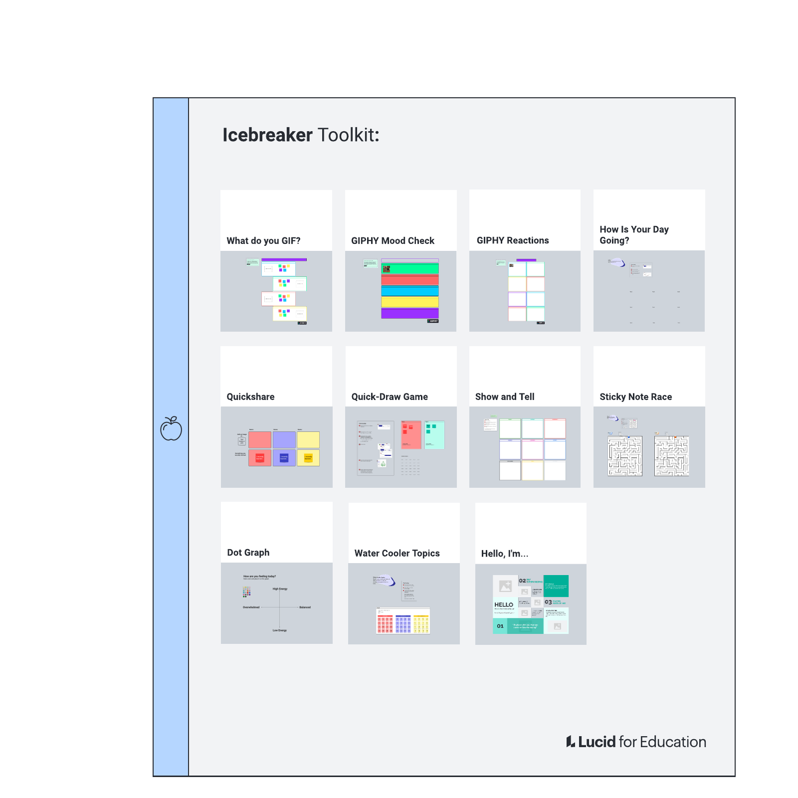 Icebreaker (Get to know you) Toolkit