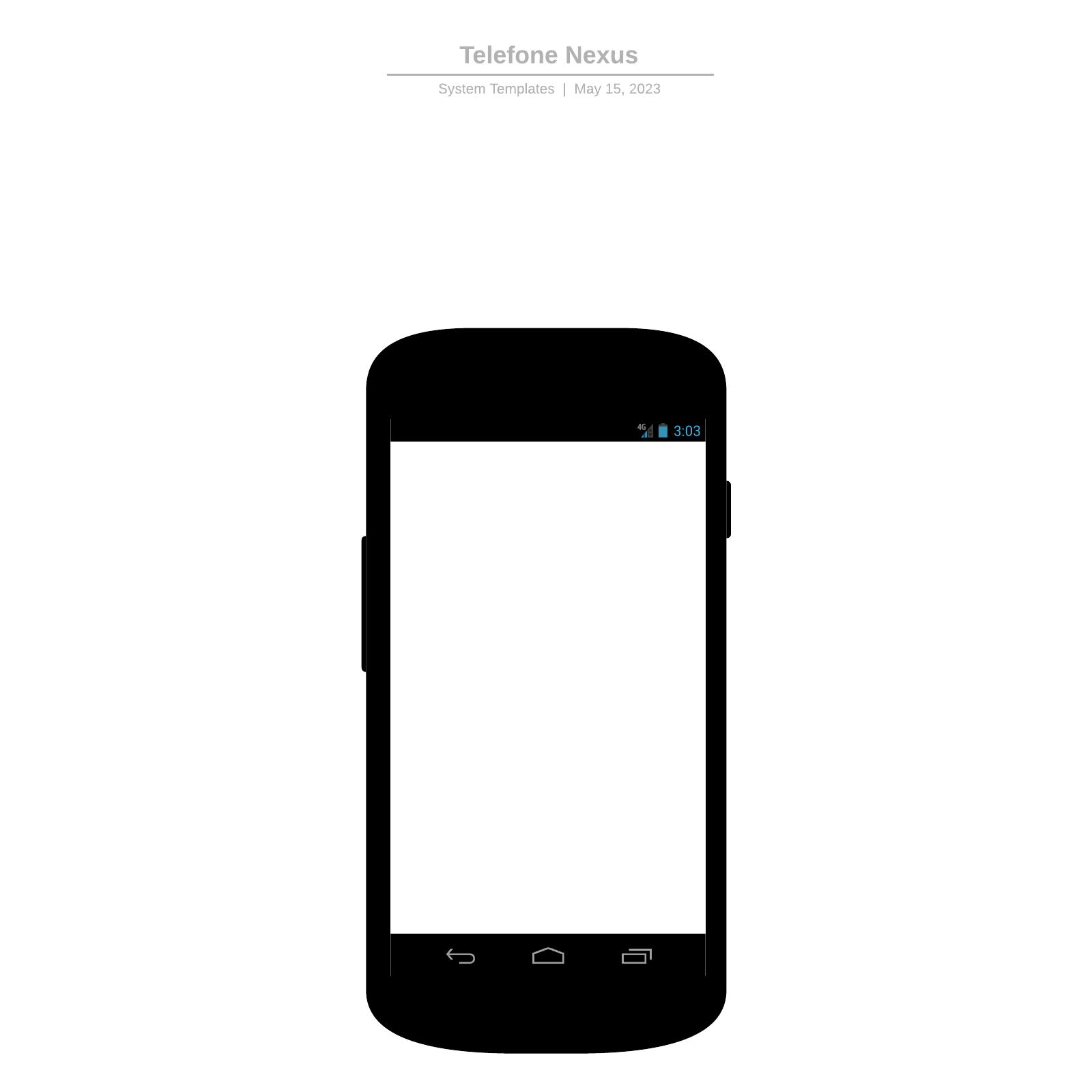 Mockup de smartphone Android Nexus