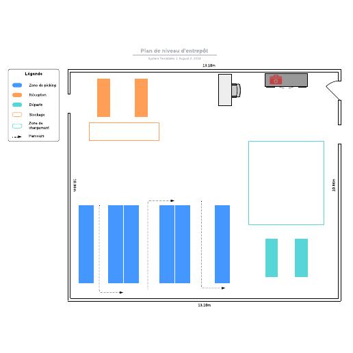 exemple de plan de niveau d'entrepôt