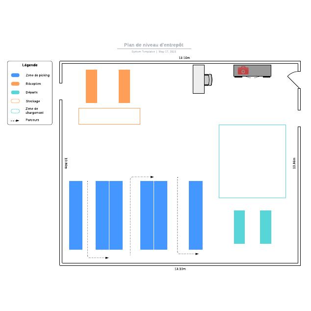 Plan de niveau d'entrepôt