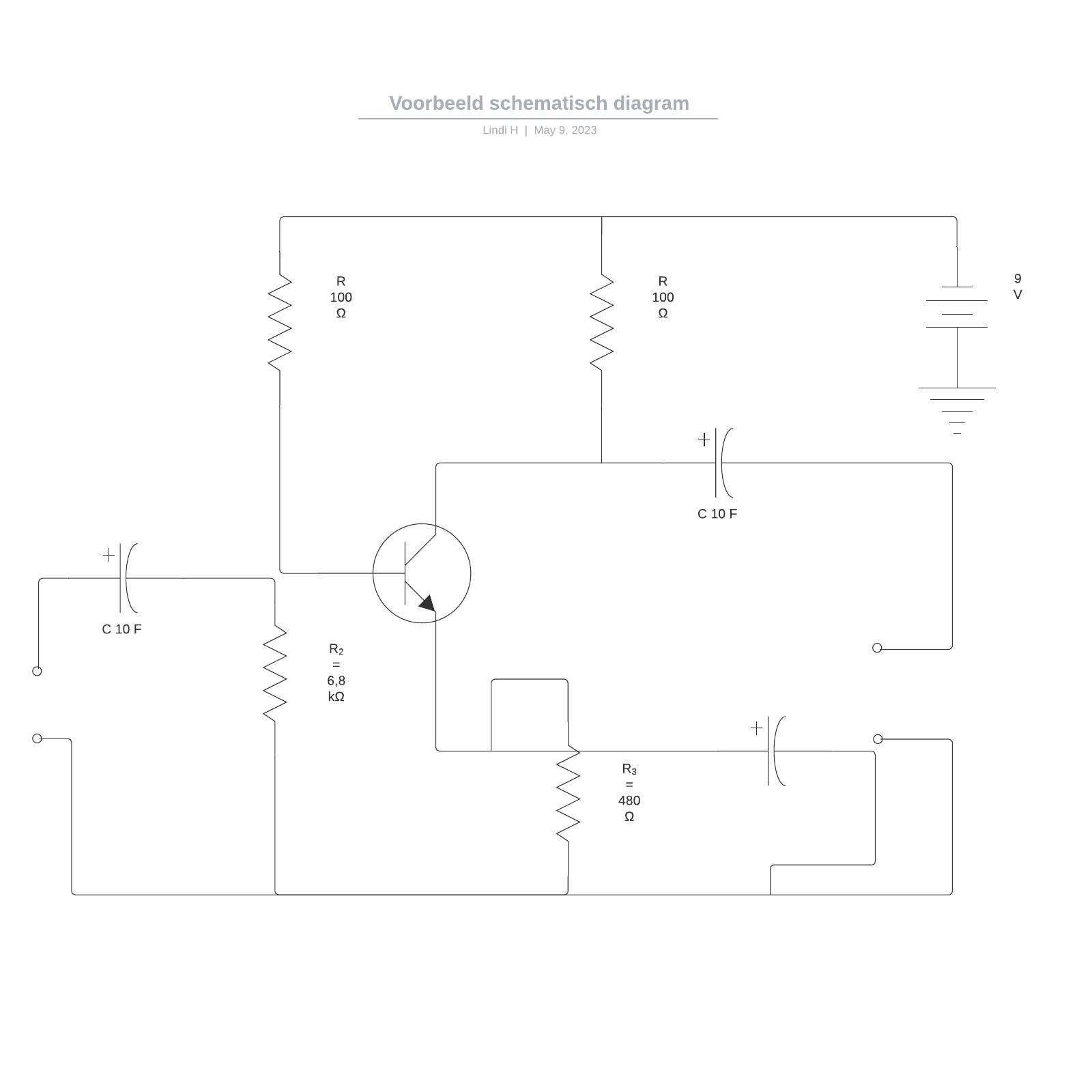 Voorbeeld schematisch diagram