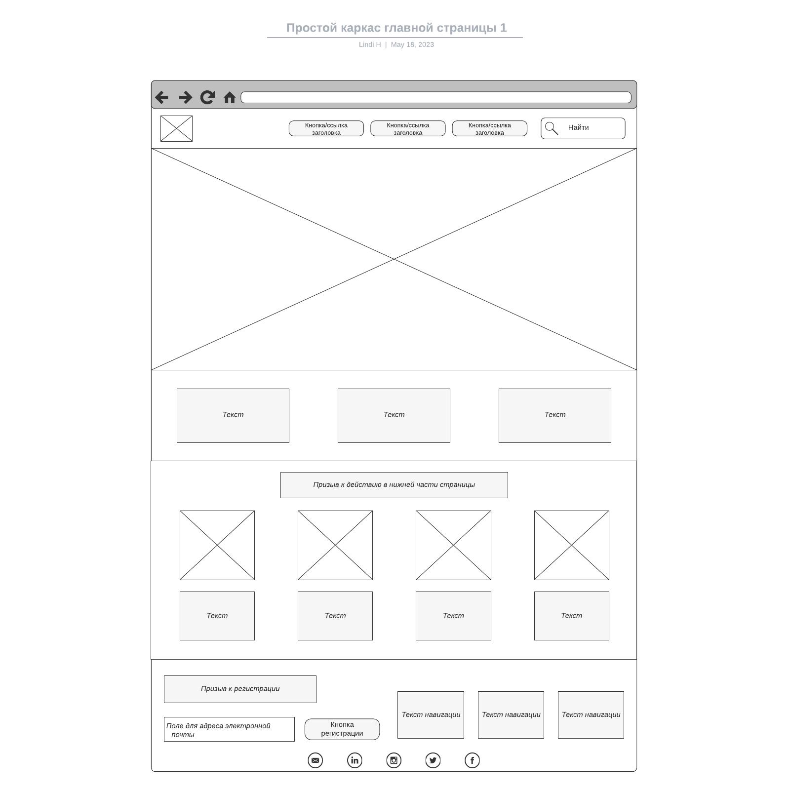 Простой каркас главной страницы 1