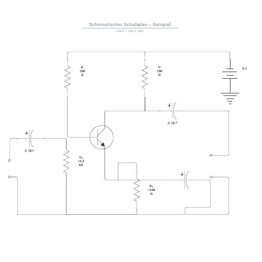 Schematischer Schaltplan – Beispiel