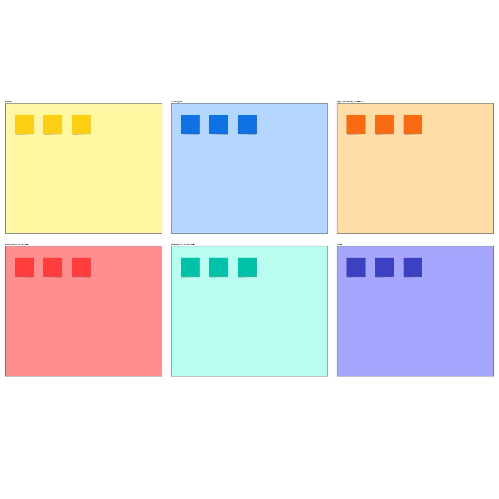 Agenda para reuniões de equipe