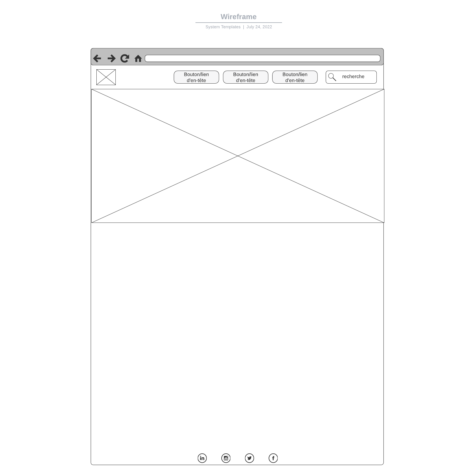 exemple de wireframe vierge