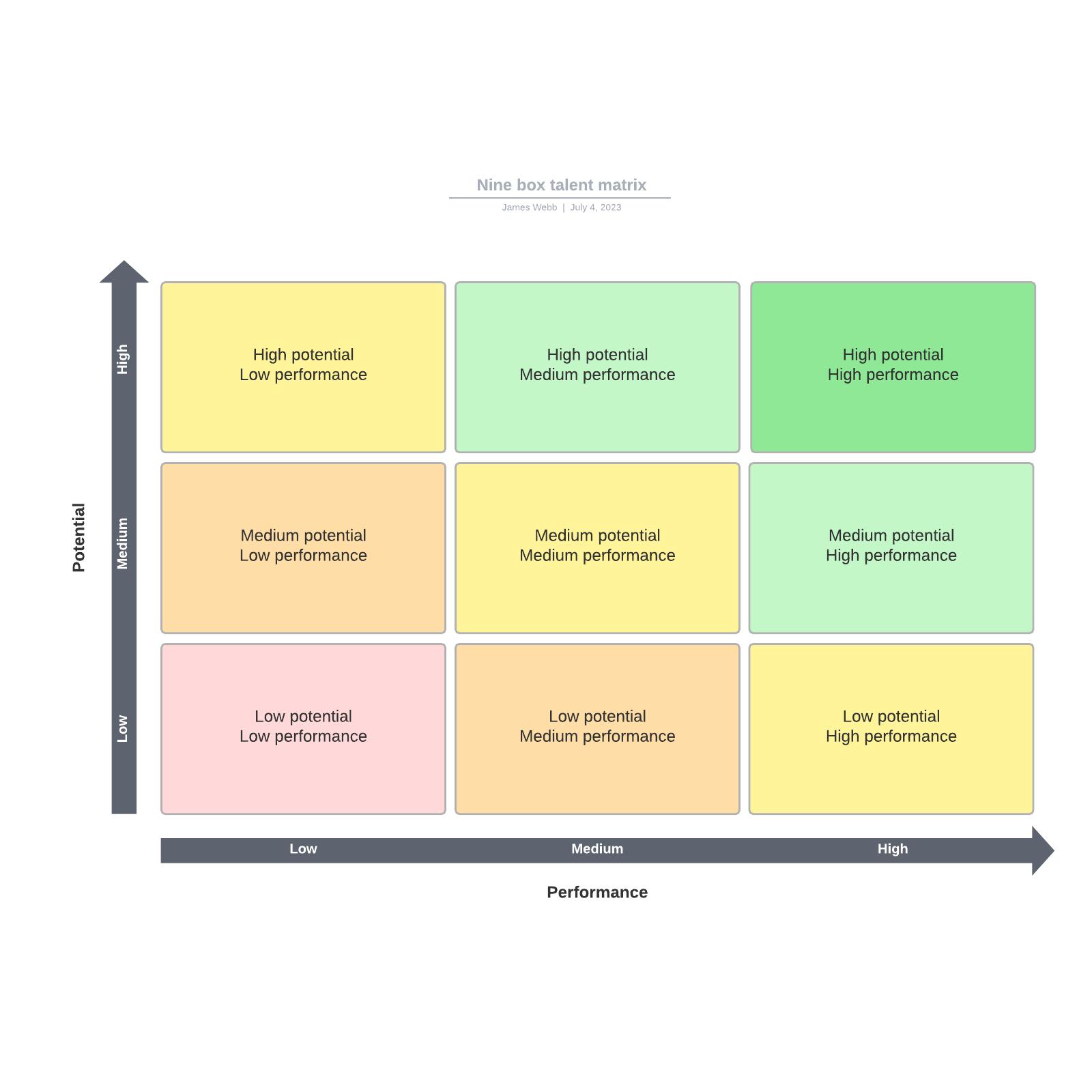 Nine box talent matrix