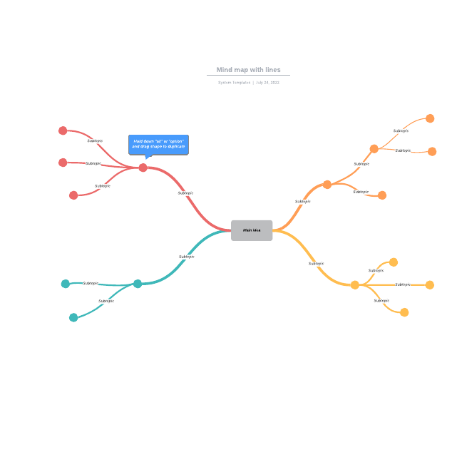 Mind map with lines