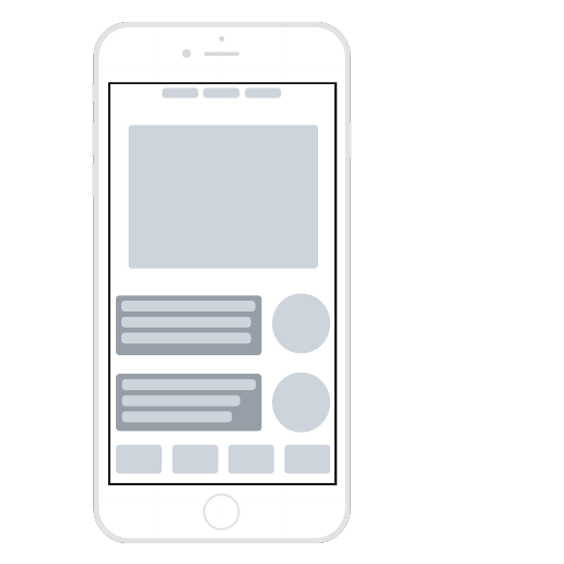 Mobile app wireframe template