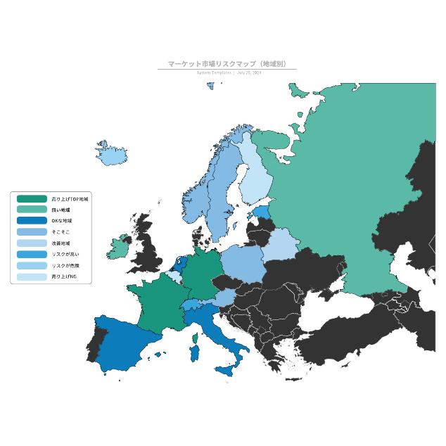 マーケット市場リスクマップ(地域別)