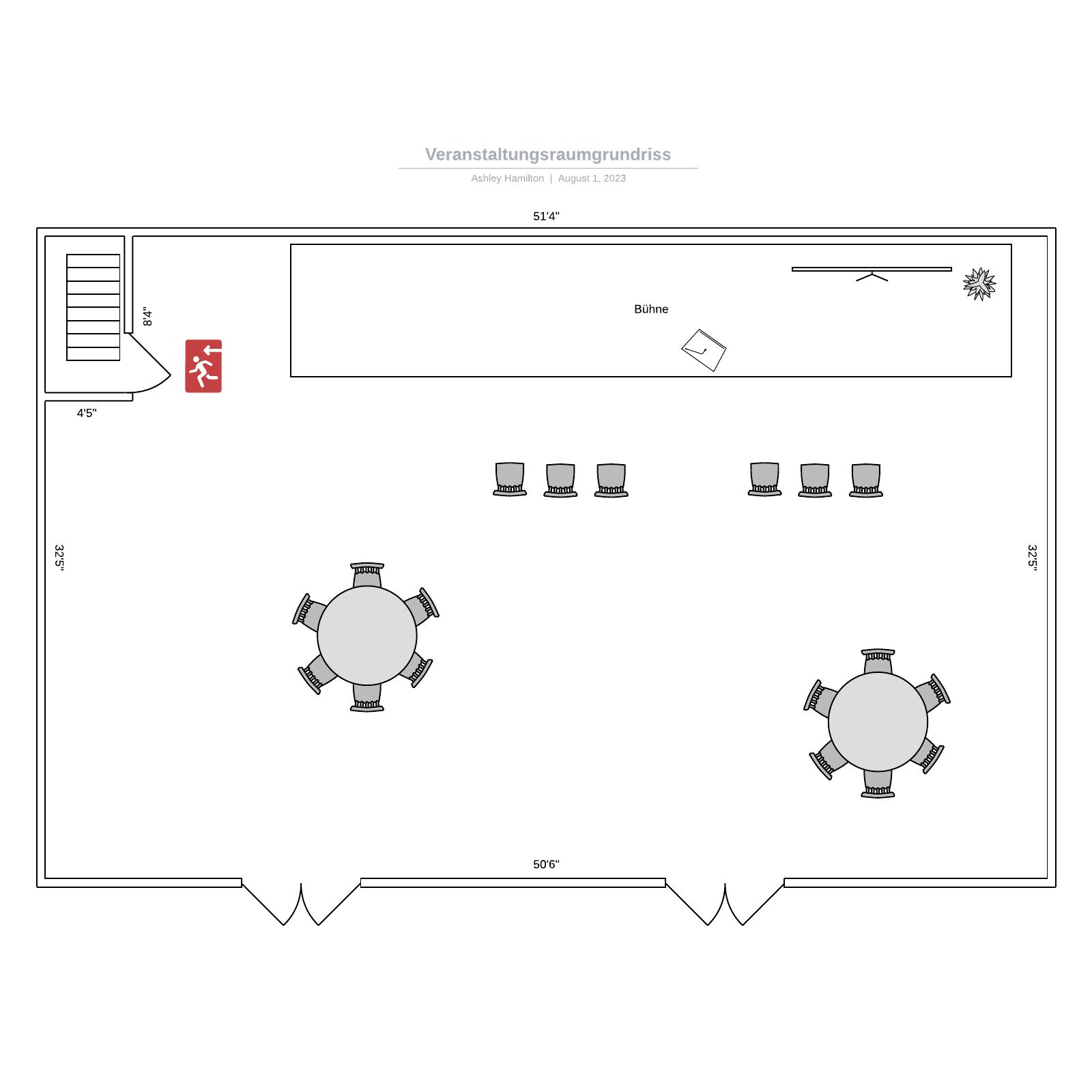 Veranstaltungsraum-Grundriss - Vorlage