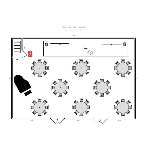 Event floor plan example
