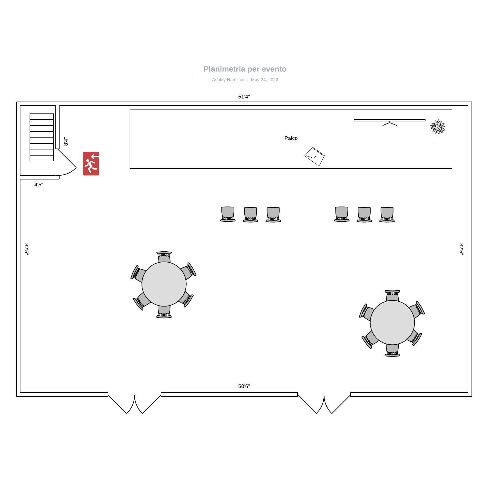 Planimetria per evento