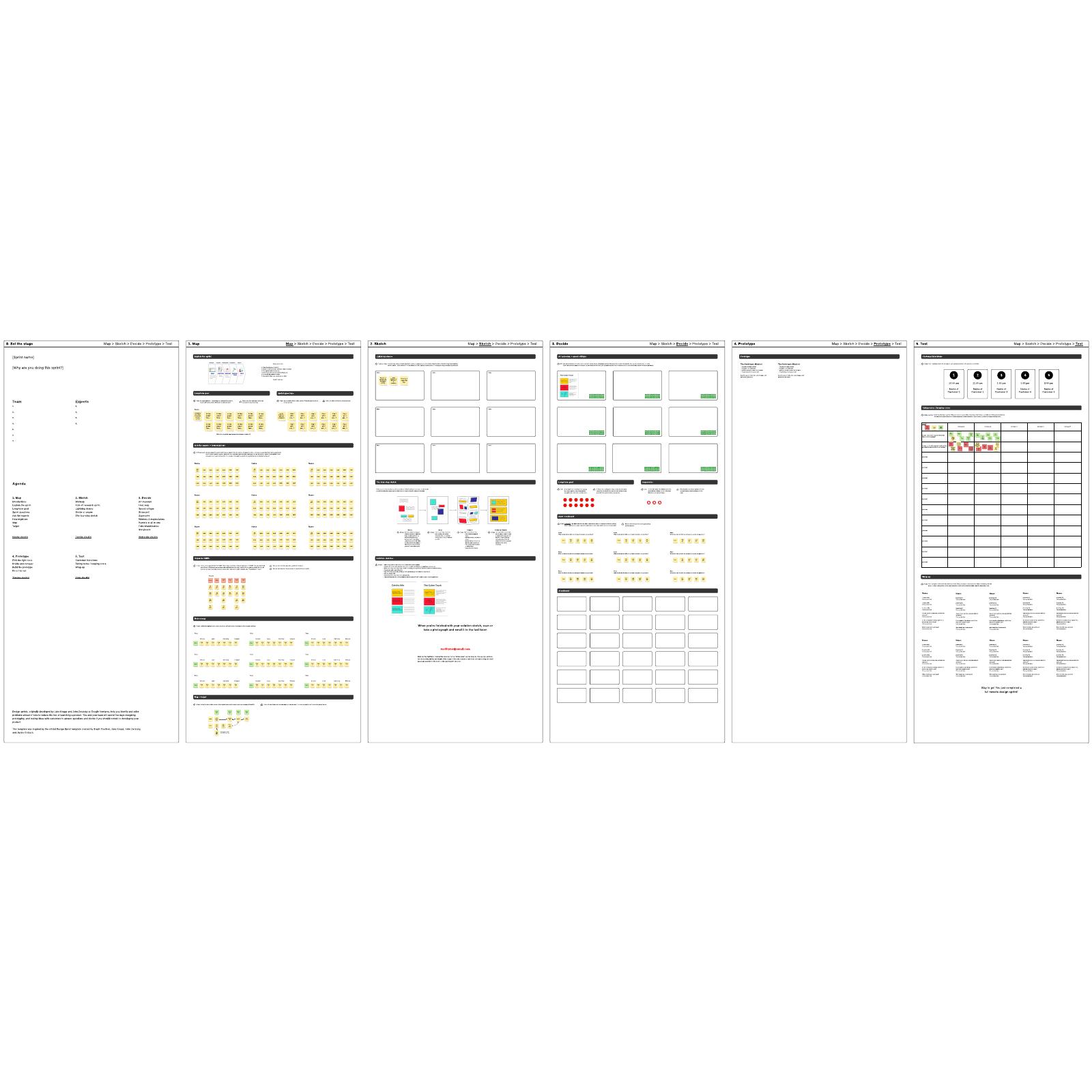 design sprint template