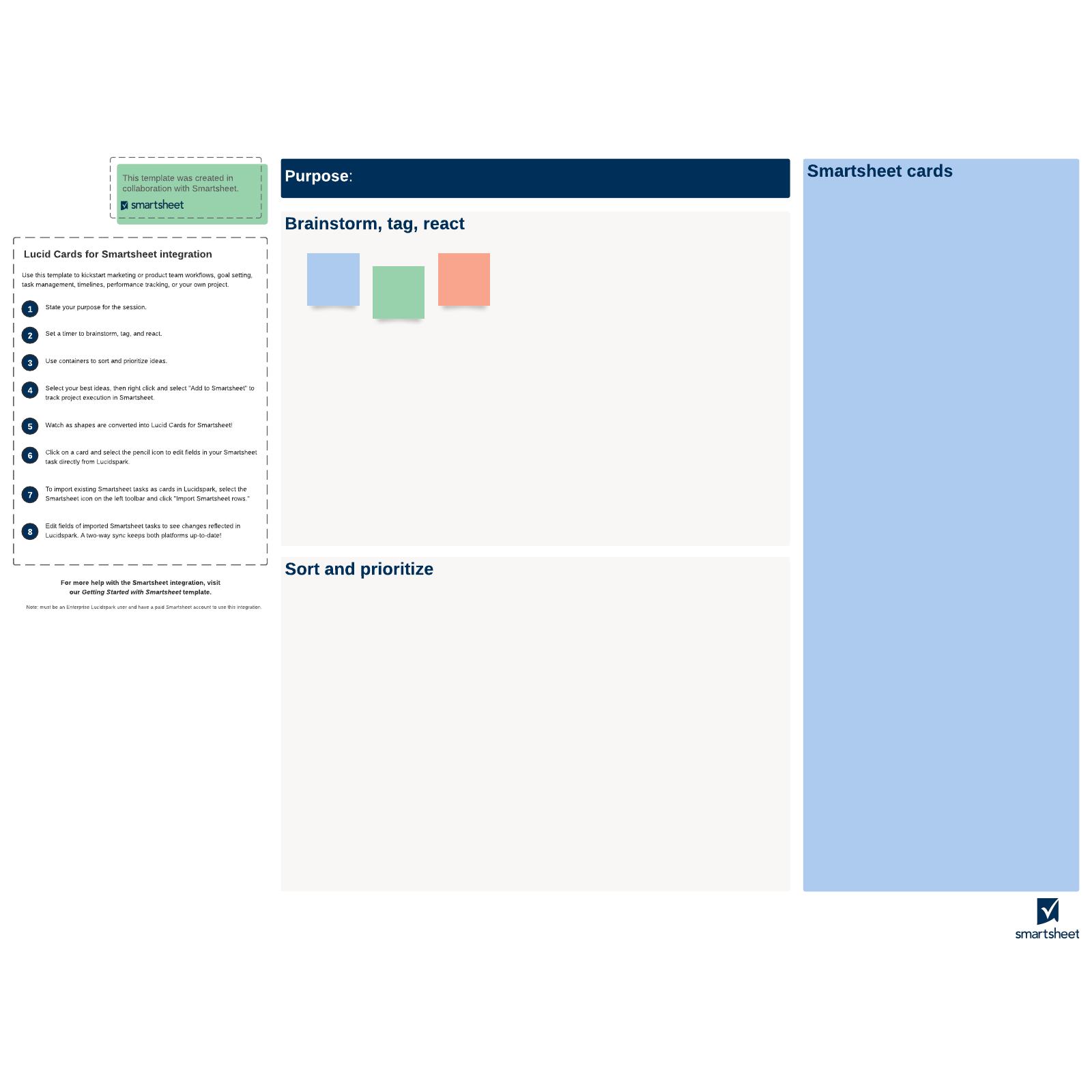 Smartsheet integration canvas