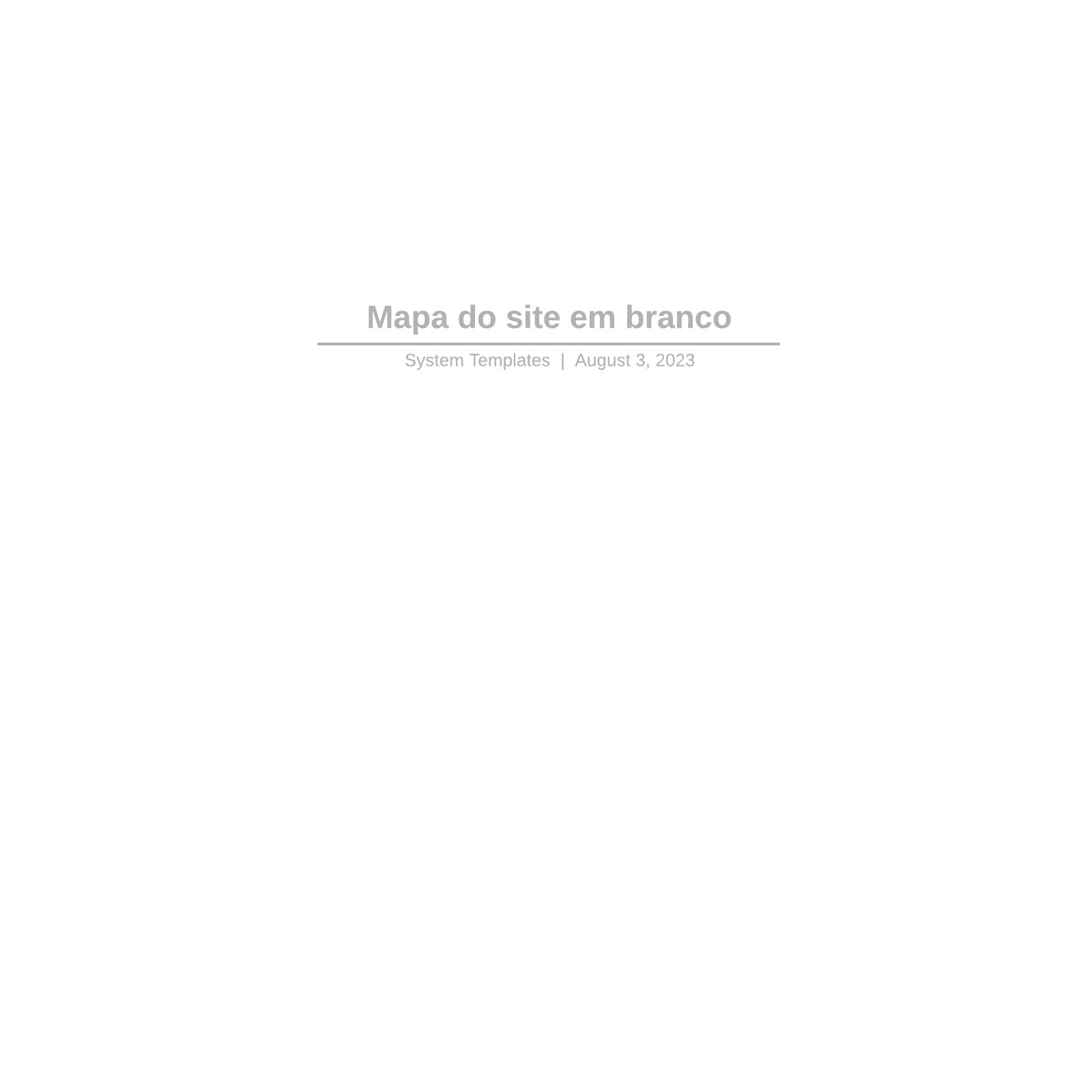 Mapa do site em branco