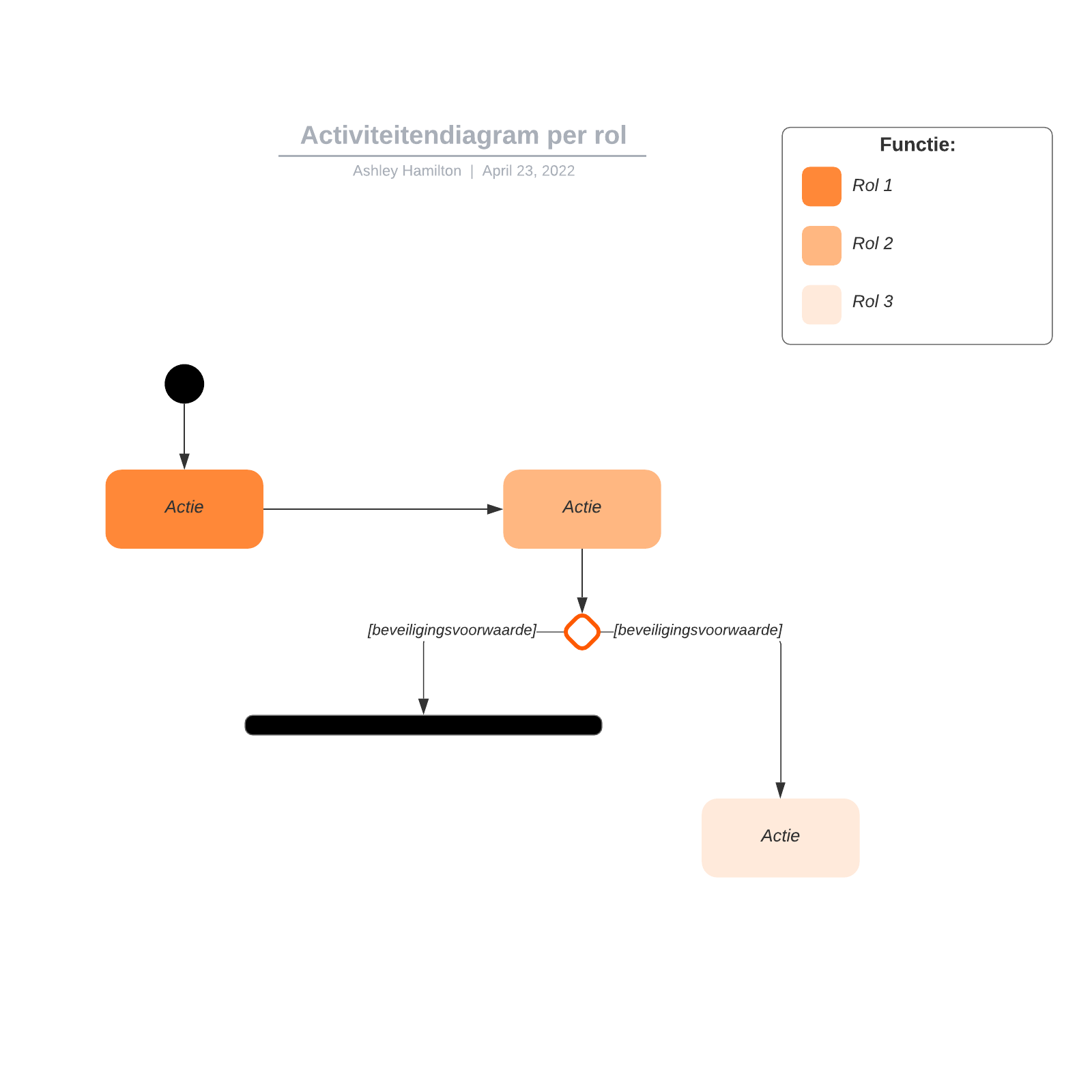 Activiteitendiagram per rol