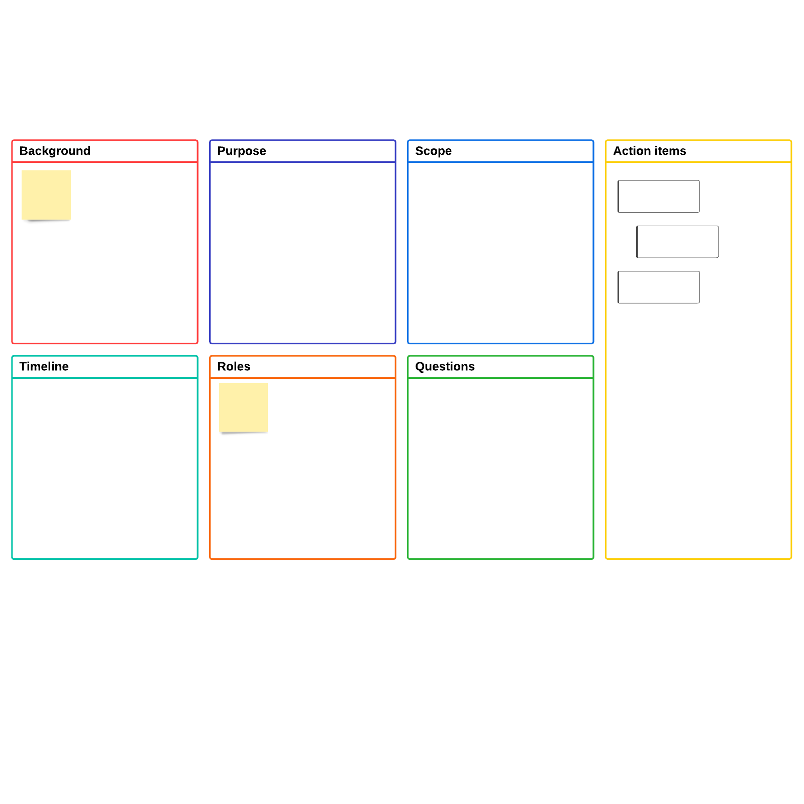 Project kick-off template