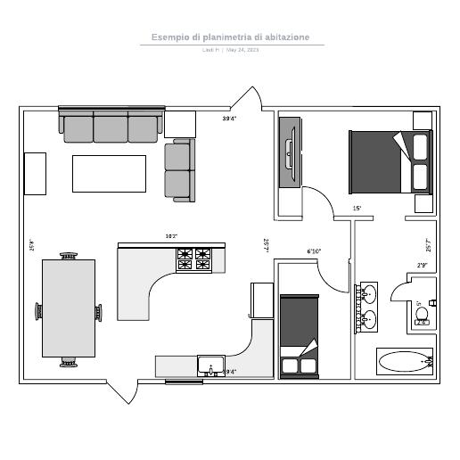 Esempio di planimetria di abitazione