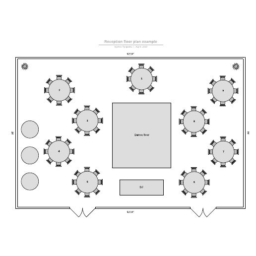 Reception floor plan example