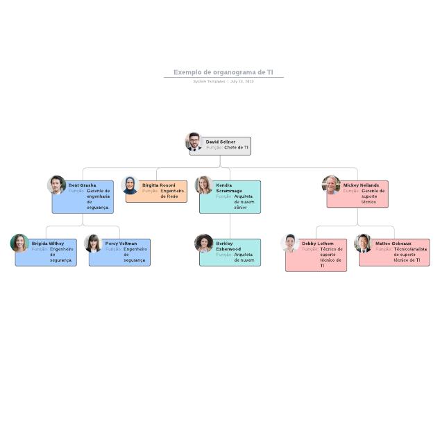 Exemplo de organograma de TI