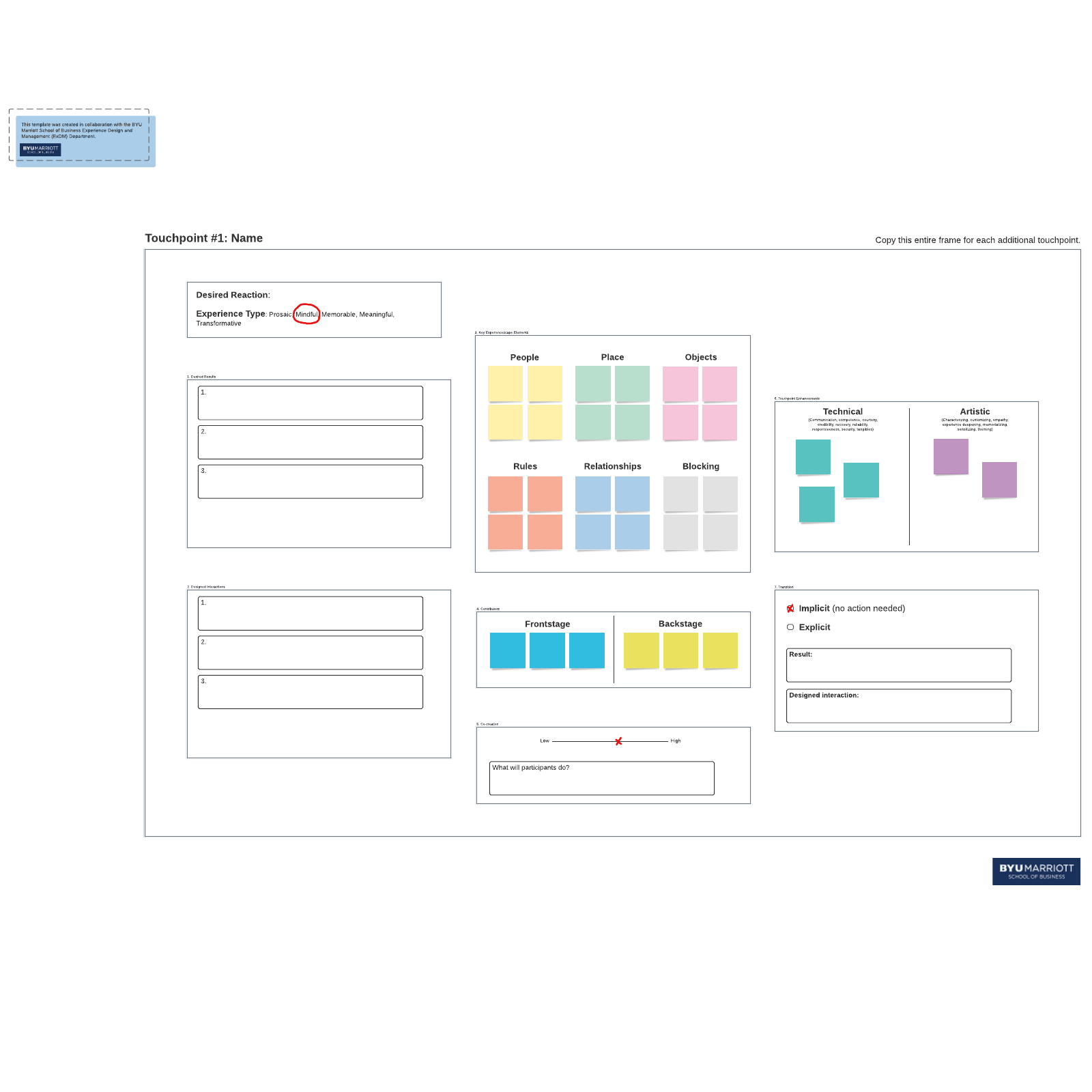 Touchpoint template