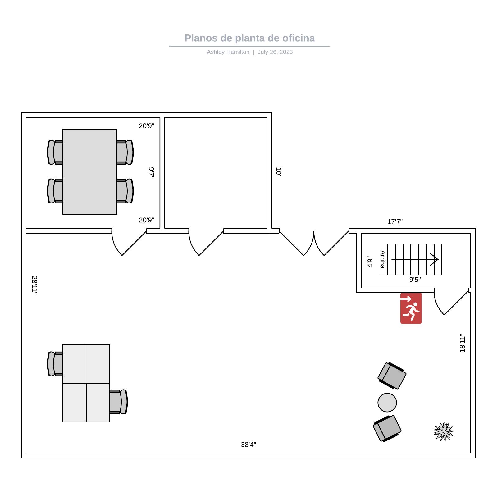 Planos de planta de oficina