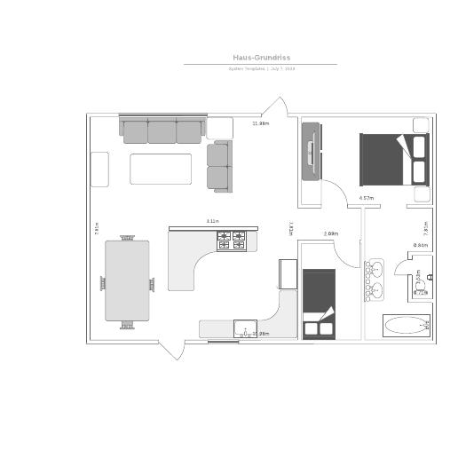 Haus-Grundriss - Vorlage