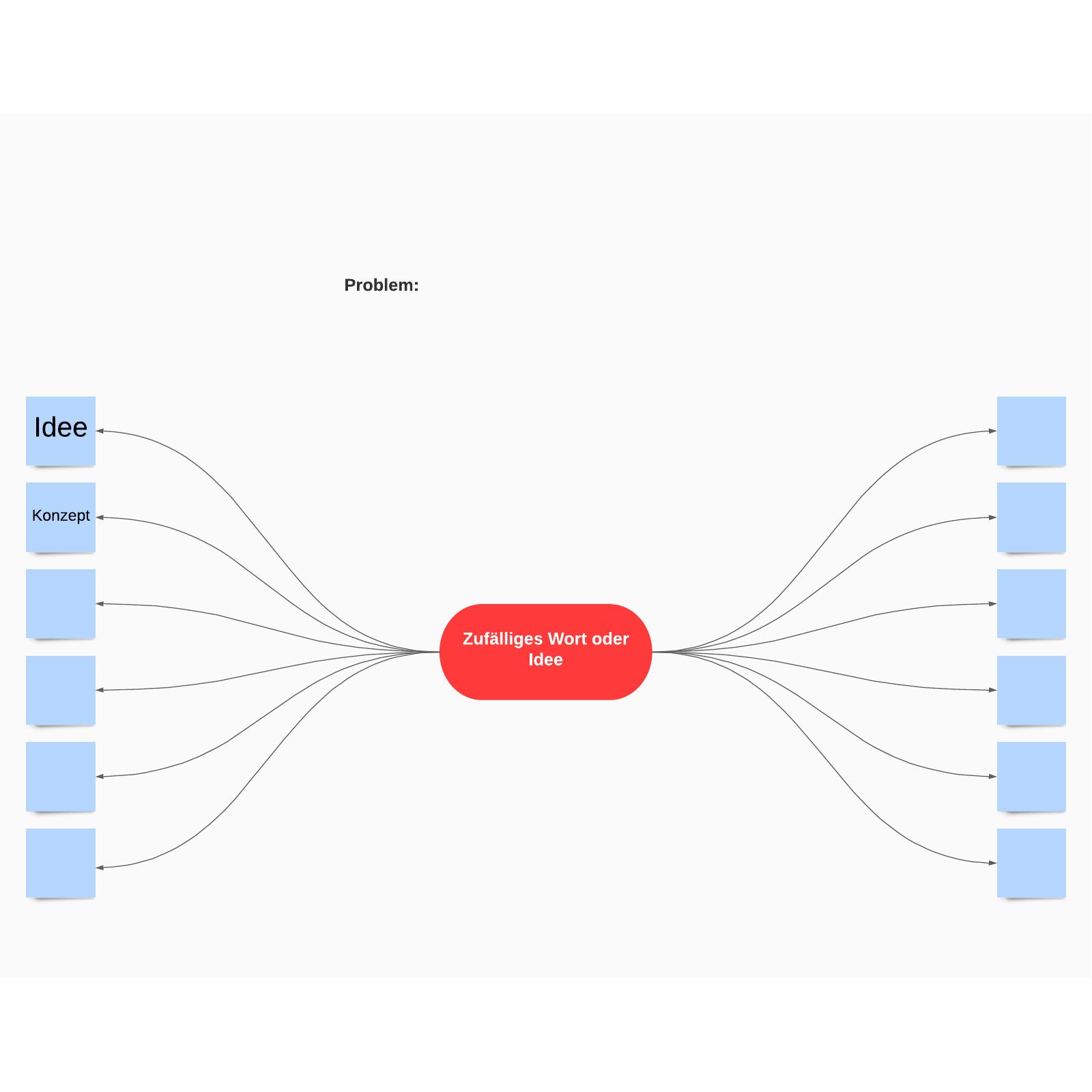 Zufällige Wörter– Brainstorming-Vorlage