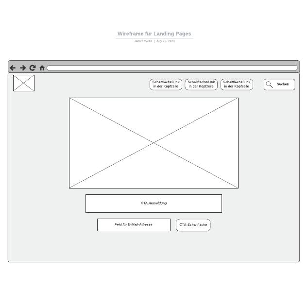 Wireframe für Landing Pages