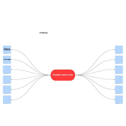 Random words brainstorming template