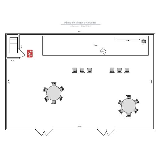 Plano de planta del evento