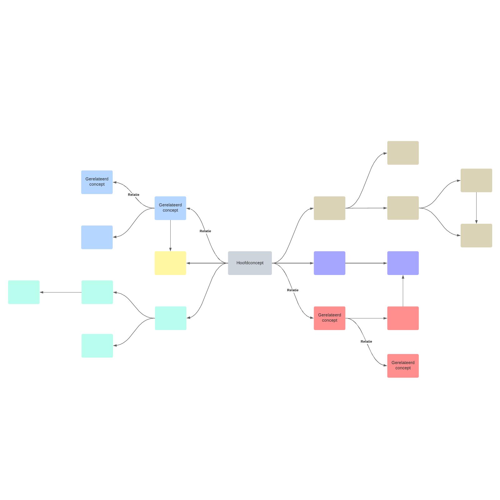 Sjabloon voor conceptmap