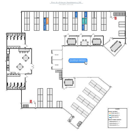 Plano de oficina por departamento y SO